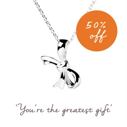 Buy Bow Necklace in Sterling Silver