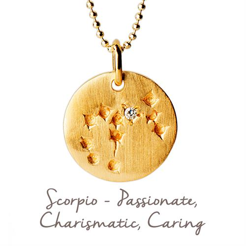 Buy Scorpio Star Map Necklace | Sterling Silver and Gold