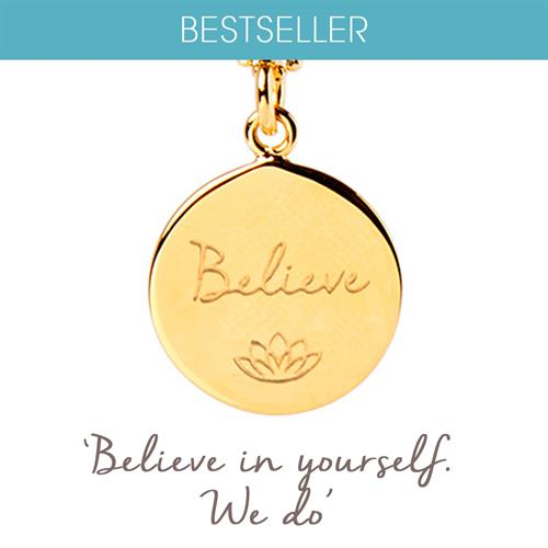 Buy Believe Charity Necklace, Smart Works | Sterling Silver, Gold & Rose Gold
