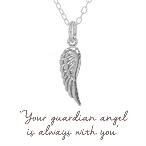 Buy Angel Wing Necklace | Sterling Silver & Gold