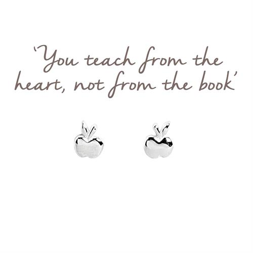 Buy Apple Earrings in Sterling Silver - Teacher's Gift