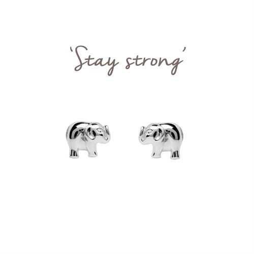 lovely stud elephant jewelry animal products for earrings genuine silver sterling free lucky girls women earring shipping
