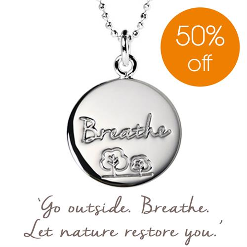 Buy Breathe Charity Necklace, Trees for Cities | Sterling Silver, Gold & Rose Gold