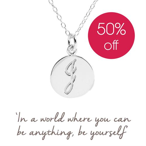 Sterling Silver Initial J Necklace