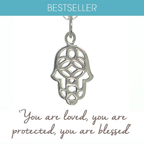 Buy Hamsa Hand Necklace in Sterling Silver