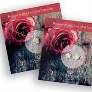 Rose Gift Sets - Rose Necklace & Earrings