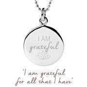 rose gold gratitude necklace