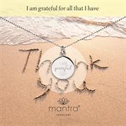 silver I am grateful necklace