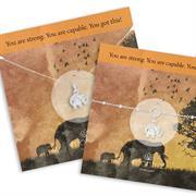 elephant necklace and bracelet gift set