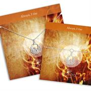 phoenix necklace and bracelet gift