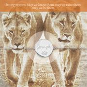 Female Strength Bracelet in Sterling Silver