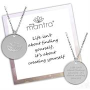 Buy CZ MyMantra Personalised Short Necklace | Sterling Silver, Gold & Rose Gold