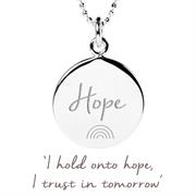 Sterling Silver NHS Charities Rainbow of Hope Pendant Necklace