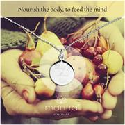 Sterling Silver Nourish The Body Disc Necklace