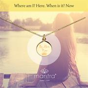 Be here now mindful necklace