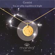 Personalised Gemini Star Map Necklace Gifts