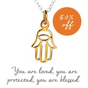 Buy Hamsa Hand Necklace | Gold & Rose Gold