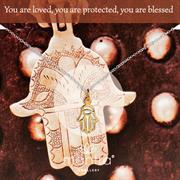 Buy Hamsa Hand Necklace   Gold & Rose Gold