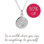 Sterling Silver S Initial Necklace