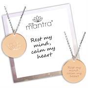 Custom Engraved Rose Gold myMantra Necklace