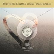 Buy Be Kind Charity Necklace | Sterling Silver & Gold
