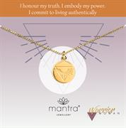 Sterling Silver nicky clinch mantra warrior disc necklace