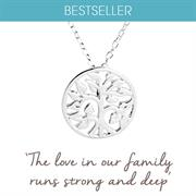 Sterling Silver Family Tree Necklace