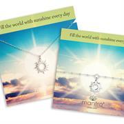 Sterling Silver Sun Necklace and Bracelet Gift Set