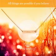 Sterling Silver Believe Necklace
