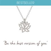 Sterling Silver Lotus Necklace