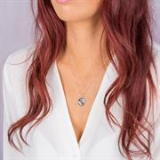 sterling silver bloom in adversity necklace on model