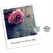 Sterling Silver Rose Flower Earrings