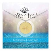 Gold CZ myMantra Inspirational Necklace