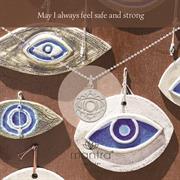 Sterling Silver Evil Eye Lucky Necklace