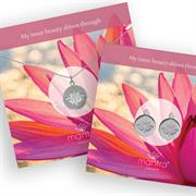 Buy Lotus Flower Necklace and Earring Set, Inner Beauty | Sterling Silver, Gold & Rose Gold