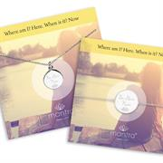 Mantra Be Here Now Necklace Bracelet Gift Set