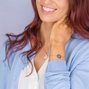 Buy Believe Disc Bracelet | Sterling Silver, Gold and Rose Gold
