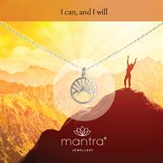 Buy Mountain Necklace, I Can and I Will, in Sterling Silver