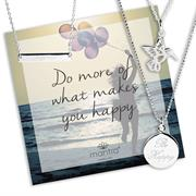 Sterling Silver Happy Necklace Gift Set