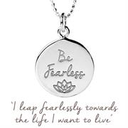 Personalised Gold Be Fearless Necklace