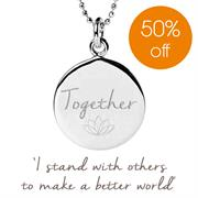 Sterling Silver Together to Make a Better World Charity Necklace