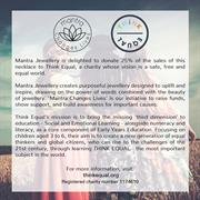 Think Equal Charity Collaboration with mantra Jewellery