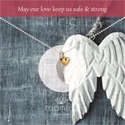 Angel Wing with Heart Necklace
