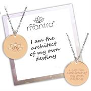 Personalised Rose Gold CZ myMantra Necklace