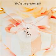 Sterling Silver Bow Necklace Gifts for her