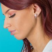 dreamcatcher mantra earrings silver