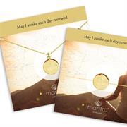 lotus flower renewal necklace and bracelet set gold