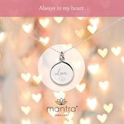 personalised sterling silver Love pendant necklace