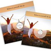 Believe Disc Necklace and Bracelet Gift Set