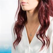 Believe Disc Necklace and Bracelet Gift Set Rose Gold